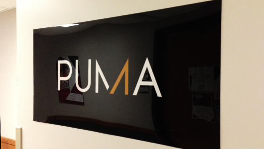Purdue University Marketing Association (PUMA) banner sign