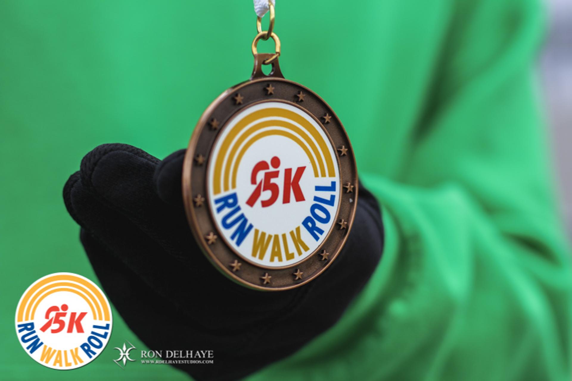 United Way 5K Run, Walk, Roll medal
