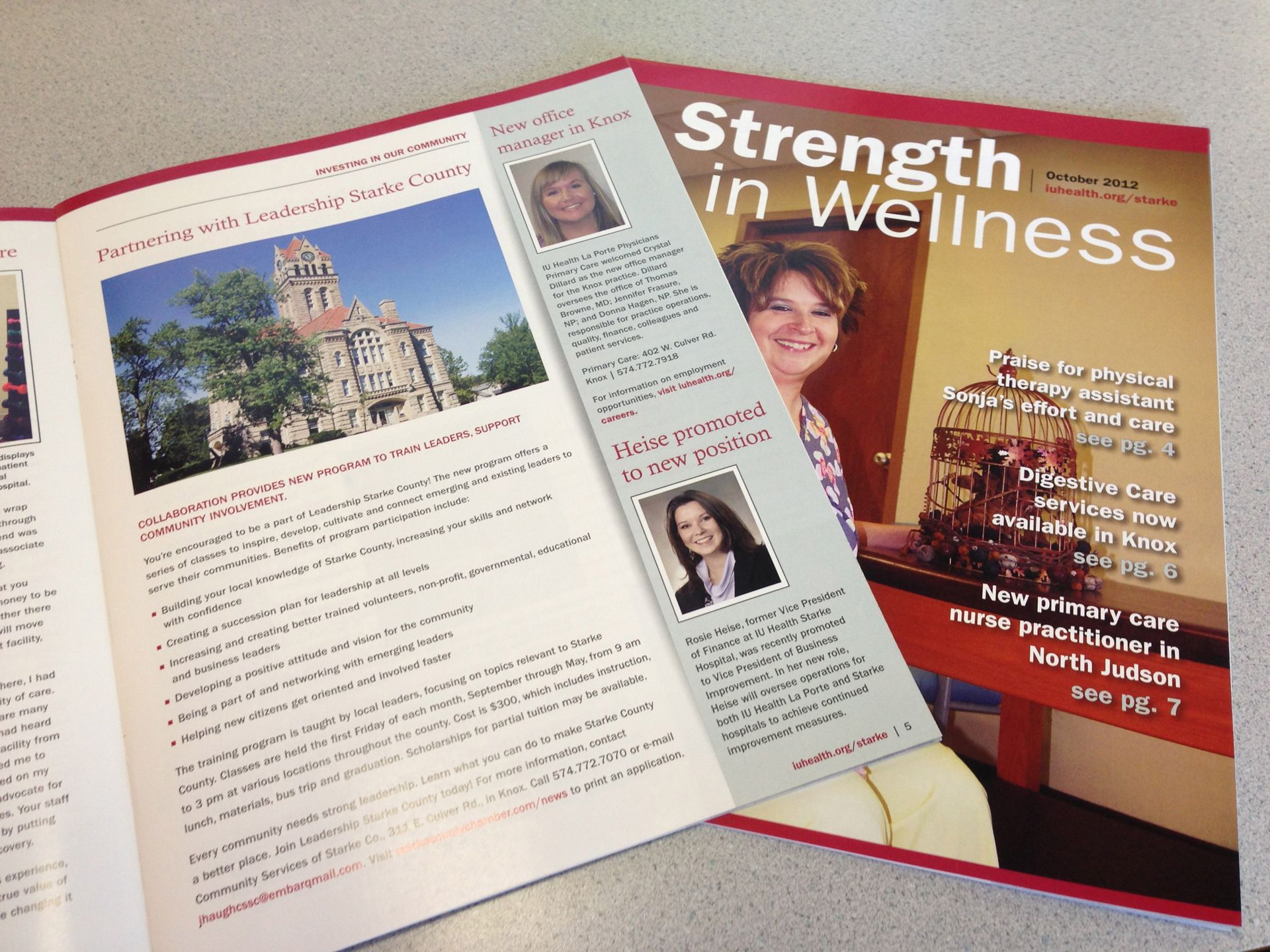 Indiana university health jamie wayne 39 s portfolio for Iu laporte hospital