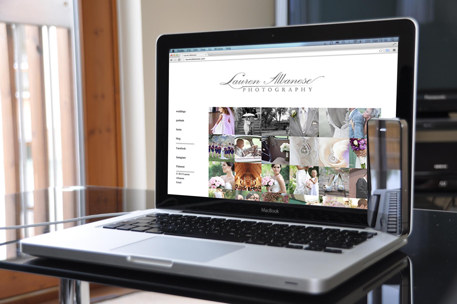 Lauren Albanese Photography website